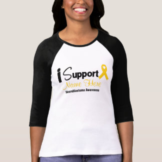 Personalize I Support Neuroblastoma Awareness Shirts