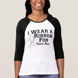 Personalize I Wear a White Ribbon Tee Shirts