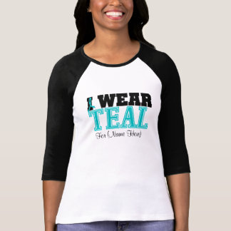 Personalize I Wear Teal Ovarian Cancer Shirts