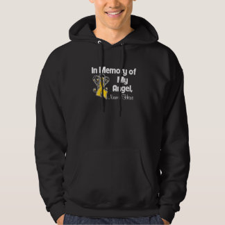 Personalize In Memory of My Angel Childhood Cancer Pullover
