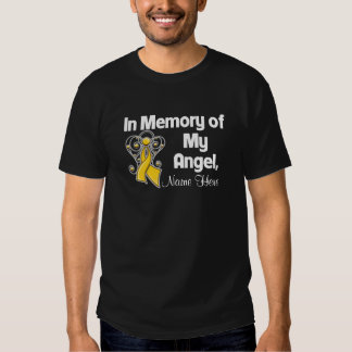 Personalize In Memory of My Angel Childhood Cancer T Shirts
