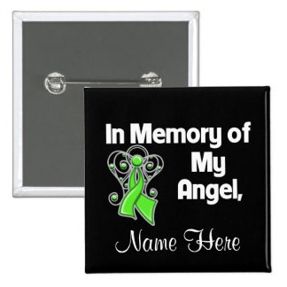Personalize In Memory of My Angel Lymphoma Pins