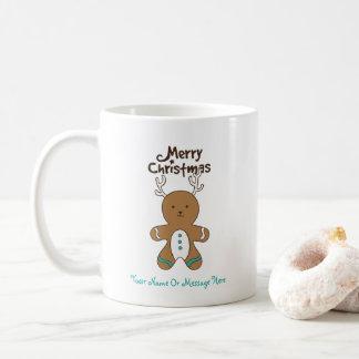 Personalize-It Christmas Deer Bear Gingerbread Man Coffee Mug