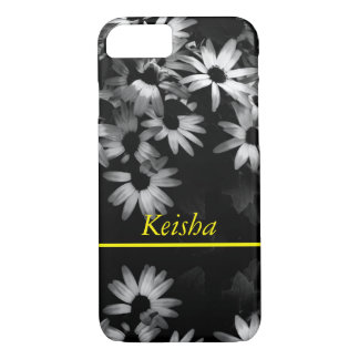 personalize it daisies black and white photography iPhone 7 case
