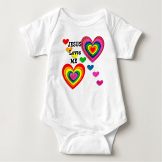 Personalize: Jesus Loves Me with Hearts Tee
