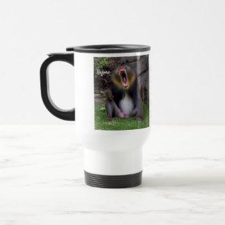 Personalize Mandrill Baboon Travel Mug