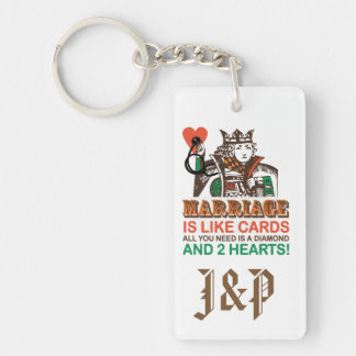 Personalize Marriage is like cards Keychain