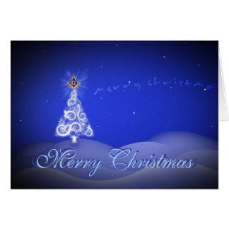Personalize Masonic Christmas Greetings Greeting Card