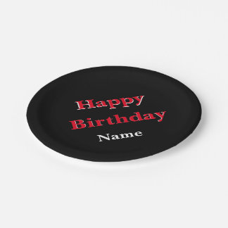 Personalize Me Birthday Paper Plate