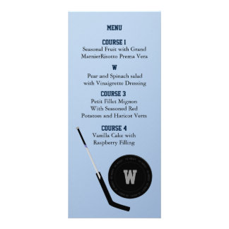 Personalize Menu cards Ice Hockey theme