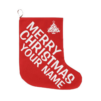 Personalize Merry Christmas Stocking