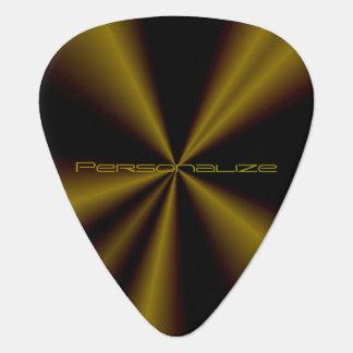 Personalize Metallic Grunge Gold Guitar Pick