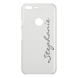 Personalize:  Minimalist Cursive Name or Monogram Uncommon Google Pixel XL Case