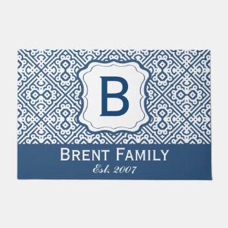 Personalize Monogram Family Emblem. Custom Colors Doormat