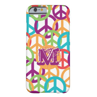 Personalize Monogram Modern Peace Symbols Barely There iPhone 6 Case