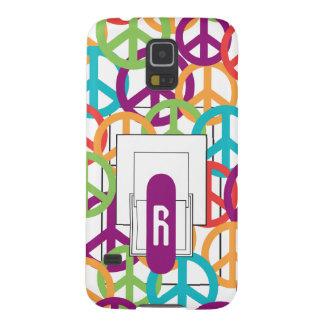 Personalize Monogram Modern Peace Symbols Galaxy S5 Cases