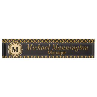 Personalize, Monogram Pattern Name Plate