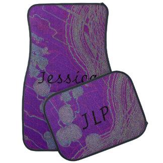 Personalize & monogram Purple Design Floor Mats Floor Mat