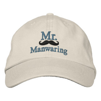 Personalize Mr & Mrs Embroidery Embroidered Cap