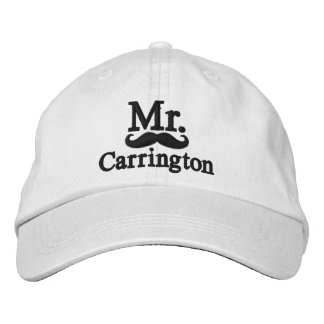 Personalize Mr & Mrs Embroidery Embroidered Cap Embroidered Baseball Cap