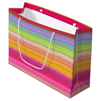 Personalize - Multicolor gradient background Large Gift Bag