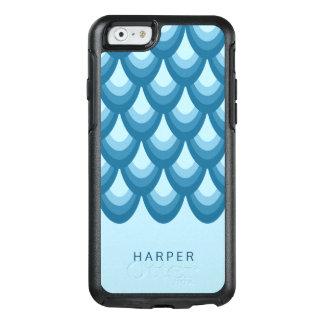 Personalize Name Elegant Shades of Blue Geometric OtterBox iPhone 6/6s Case