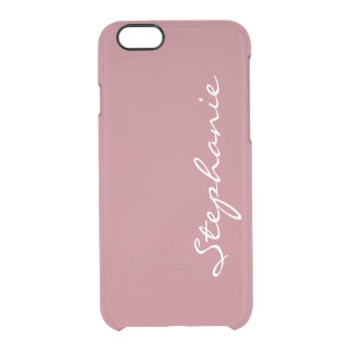 Personalize:  Name or Monogram on Rose Gold Clear iPhone 6/6S Case