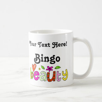 Personalize Name or Text Fun Bingo Beauty Cute Coffee Mug