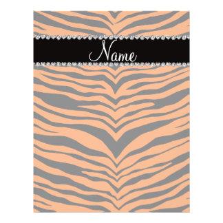 Personalize name orange tiger stripes flyer