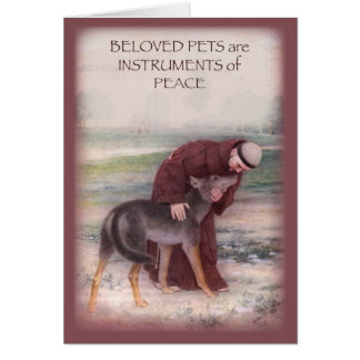 Personalize Name Sympathy Loss of Pet, St. Francis Card