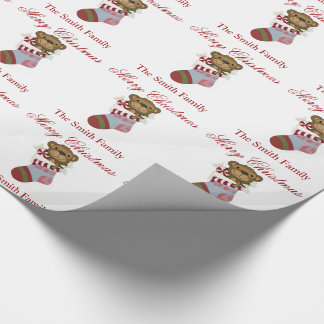 Personalize Name Teddy Bear Stocking Paper