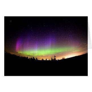 Personalize Northern-Lights Aurora Borealis Sky Card
