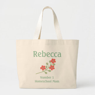 Personalize Number 1 Homeschool Mom Large Tote Bag