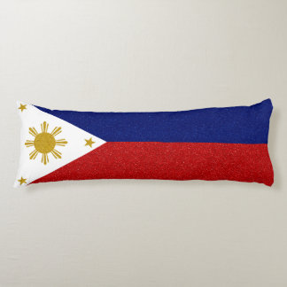 Personalize Philippines Glitter Flag Body Cushion