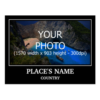 Personalize Photo, Place's Name & Place's Country Postcard