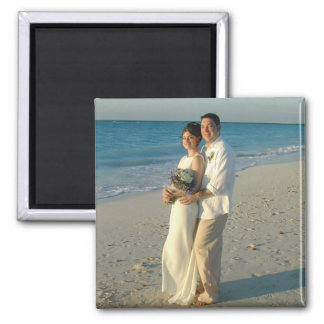 PERSONALIZE PHOTO SAVE THE DATE SQUARE MAGNET