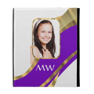 Personalize photo template iPad folio covers