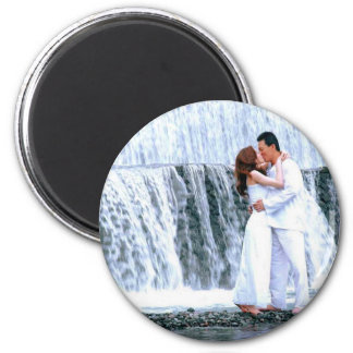 PERSONALIZE PHOTO WEDDING FAVORS 6 CM ROUND MAGNET