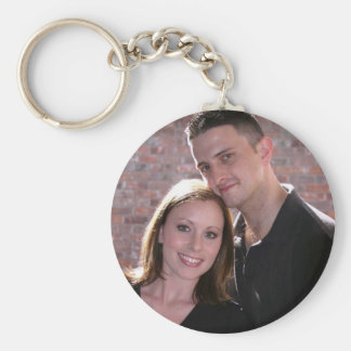 PERSONALIZE PHOTO WEDDING FAVORS BASIC ROUND BUTTON KEY RING