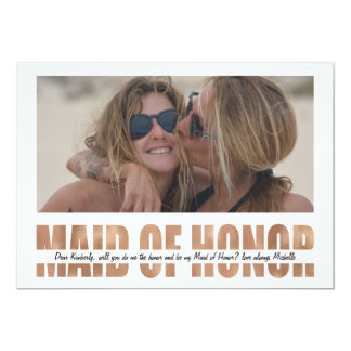 PERSONALIZE PHOTO WILL YOU BE MY MAID OF HONOR CARD
