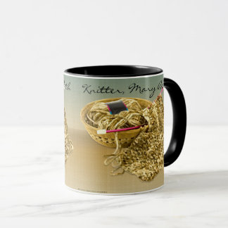 Personalize: Picture of Hand Knit Chenille Yarn Mug
