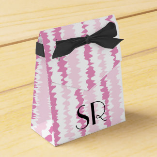 Personalize PINK Monogram Abstract - 1+ Letters Wedding Favor Boxes