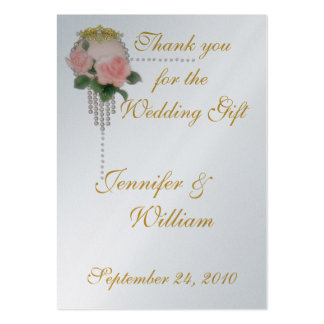 PERSONALIZE PK.100  PHOTO THANK YOU CARDS PACK OF CHUBBY BUSINESS CARDS