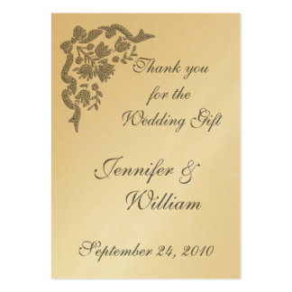 PERSONALIZE PK.100 THANK YOU CARDS PACK OF CHUBBY BUSINESS CARDS