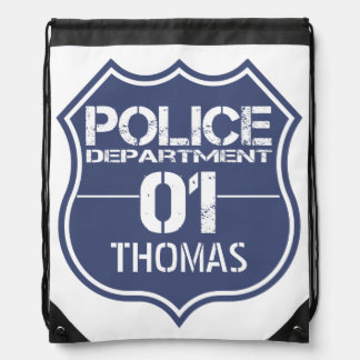 Personalize Police Department Shield 01 - Any Name Backpacks