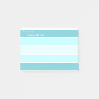 Personalize Professional Post It Note in Blue