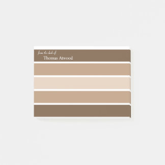 Personalize Professional Post It Note in Brown