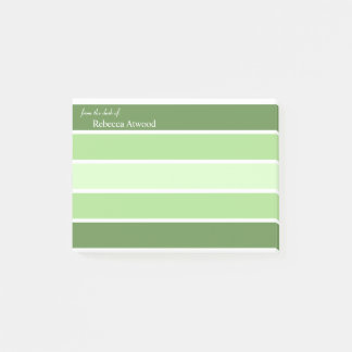 Personalize Professional Post It Note in Green