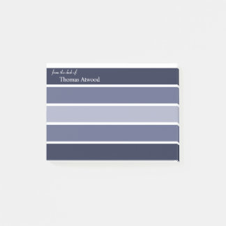 Personalize Professional Post It Note in Navy Blue