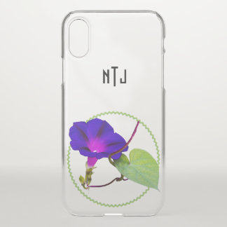 Personalize: Purple Morning Glory Photography iPhone X Case